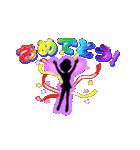 妖精と虹色ガラス文字(個別スタンプ:25)
