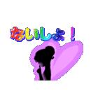 妖精と虹色ガラス文字(個別スタンプ:32)