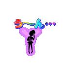 妖精と虹色ガラス文字(個別スタンプ:37)