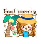常夏♪♥大人女子のやさしい毎日スタンプ♥(個別スタンプ:01)