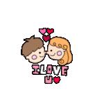 pikahuwa couple!(個別スタンプ:01)
