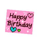 【動く★HAPPY BIRTHDAY】シンプルめ(個別スタンプ:18)