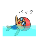 水泳女子(個別スタンプ:38)