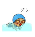 水泳女子(個別スタンプ:39)