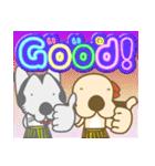 毎日使える★フラダンスな犬(個別スタンプ:04)