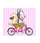毎日使える★フラダンスな犬(個別スタンプ:34)