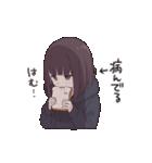 うごく!メンヘラちゃん。3(食べる)(個別スタンプ:01)