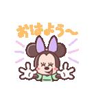ミニーマウス(パステルカラー)(個別スタンプ:01)