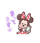 ミニーマウス(パステルカラー)(個別スタンプ:22)