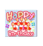 ▷でか文字☆花のお祝い・誕生日(個別スタンプ:01)