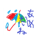 coosanのクレヨン画風スタンプ(個別スタンプ:9)