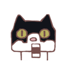 ハチワレ猫のにゃむねこ(個別スタンプ:17)