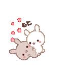 ラブラブ動く☆好きがいっぱい仲良しウサギ(個別スタンプ:02)