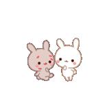 ラブラブ動く☆好きがいっぱい仲良しウサギ(個別スタンプ:03)