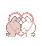 ラブラブ動く☆好きがいっぱい仲良しウサギ(個別スタンプ:05)