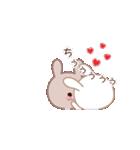 ラブラブ動く☆好きがいっぱい仲良しウサギ(個別スタンプ:22)