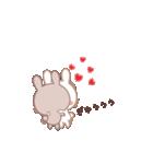 ラブラブ動く☆好きがいっぱい仲良しウサギ(個別スタンプ:23)