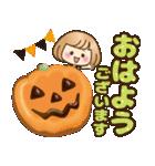 おかっぱ女子【秋冬ハロウィン】(個別スタンプ:05)