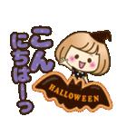 おかっぱ女子【秋冬ハロウィン】(個別スタンプ:06)
