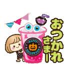 おかっぱ女子【秋冬ハロウィン】(個別スタンプ:13)