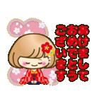 おかっぱ女子【秋冬ハロウィン】(個別スタンプ:35)