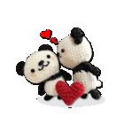 あみぐるみ パンダ(個別スタンプ:20)