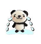 あみぐるみ パンダ(個別スタンプ:28)