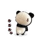 あみぐるみ パンダ(個別スタンプ:31)