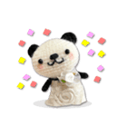 あみぐるみ パンダ(個別スタンプ:35)