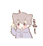 猫耳女子と猫耳男子(個別スタンプ:03)