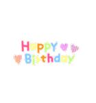 動く!大切な人へ♡誕生日お祝いセット(個別スタンプ:04)