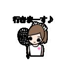 女子 バドミントン(個別スタンプ:03)