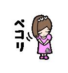 女子 バドミントン(個別スタンプ:07)