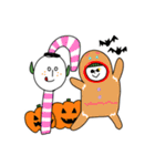 ぴよぴよ夫婦8 halloween /Xmas /年末年始(個別スタンプ:12)