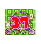 25歳〜48歳まで お誕生日用 フラダンスな犬(個別スタンプ:13)