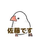 【佐藤専用】文鳥さんスタンプ(個別スタンプ:01)