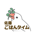 【佐藤専用】文鳥さんスタンプ(個別スタンプ:13)