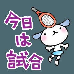 テニスをする動物たち