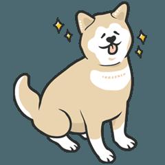 保護犬支援スタンプ