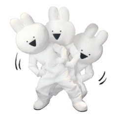 [LINEスタンプ] すこぶる動くウサギ【実写版】