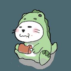 [LINEスタンプ] ねこねこザウルス (1)