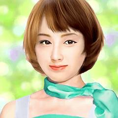可愛い顔の日本女性