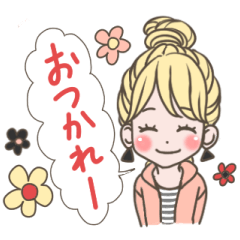 使いやすい★可愛いカラフル女子スタンプ 2