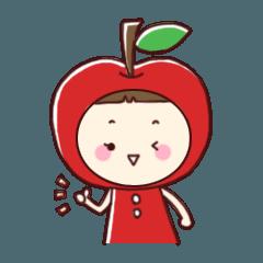 津軽弁りんごちゃんスタンプ