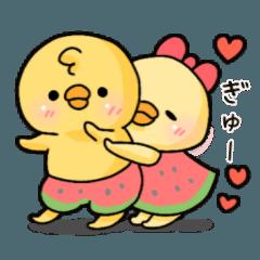 ぴよぴよ夫婦♡夏2
