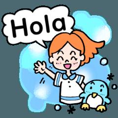 [LINEスタンプ] 夏の!スペイン語のあいさつスタンプ!!