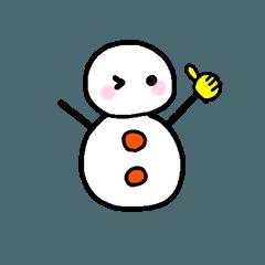 [LINEスタンプ] 雪ゆきだるま