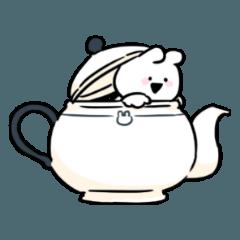 [LINEスタンプ] すこぶるウサギ-cafe-