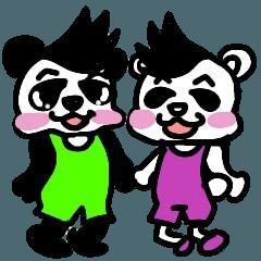 パンダとクマは友達 夏ver