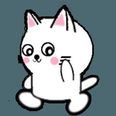 [LINEスタンプ] 白いねこ1